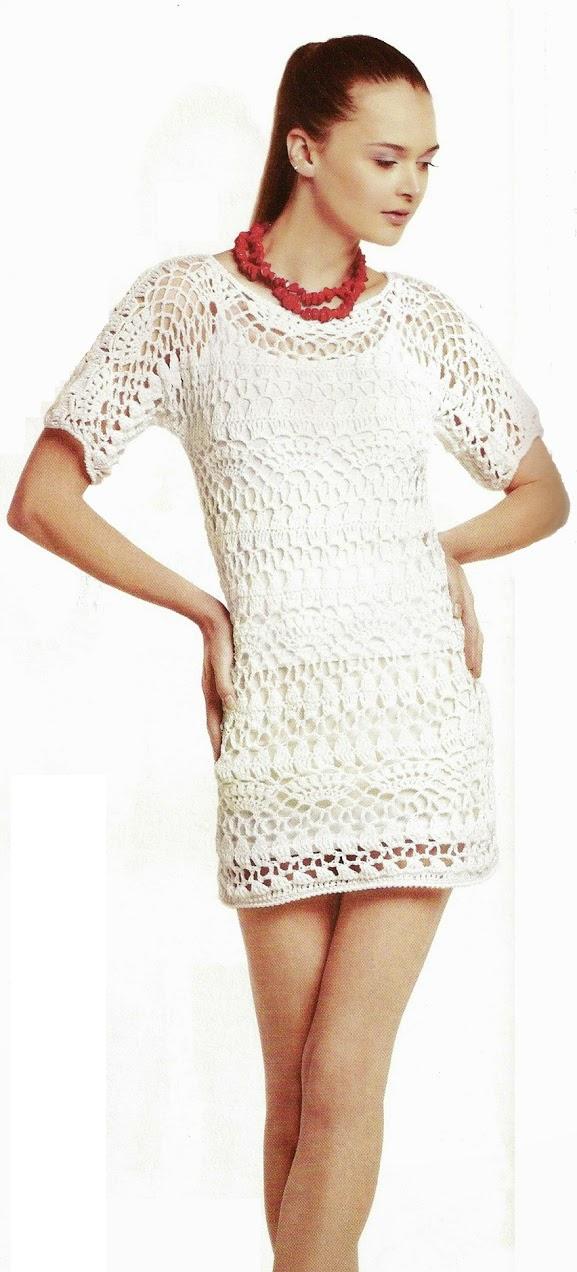 Vestido Casaca calado patron | Ganchillo | Pinterest | Croché ...