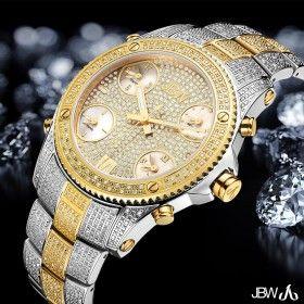 JBW Jet Setter Diamonds XXL Swiss Quartz