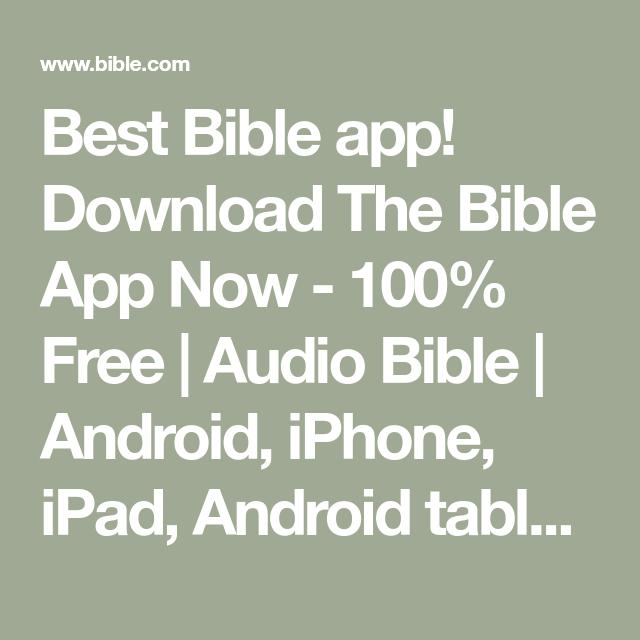 Best Bible app! Download The Bible App Now 100 Free