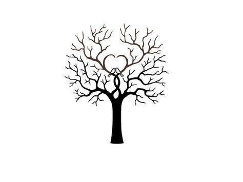 arbre coeur pour empreinte sur toile de peintre 80 x 80 mariage pinterest empreinte. Black Bedroom Furniture Sets. Home Design Ideas