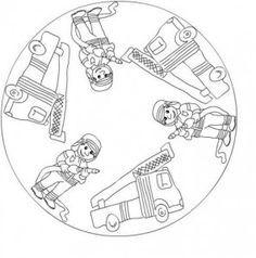 fire mandalas coloring pages   fireman mandala coloring   Cars preschool, Worksheets for ...