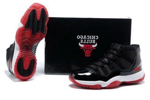 buy online e187a 23839 Nike Air Jordan 11 Xi Chicago Bulls Mens Shoes 2013 Black Red Norway