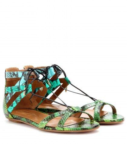 Aquazzura Beverly Hills Snakeskin Sandals Ss 2017 Cynthia Reccord