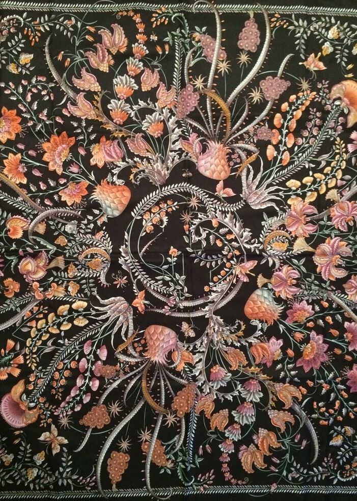 Gucci Floral Print Silk Scarf Pattern Designs By