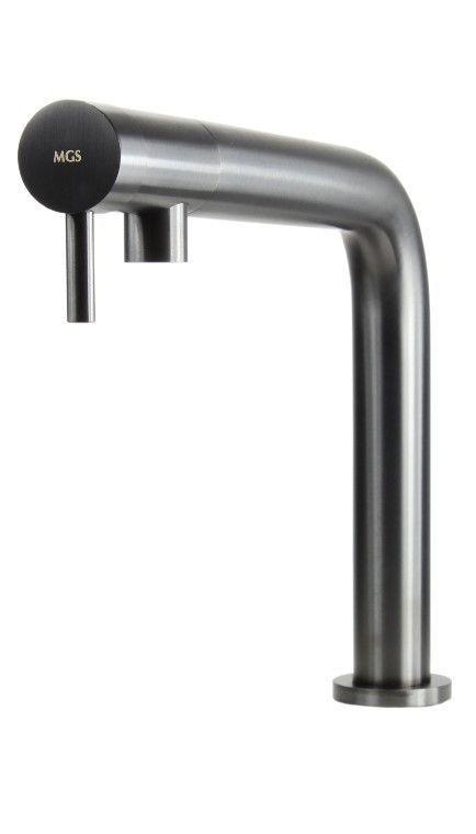 #MGS #Küchenarmatur #Nemo R Edelstahl Massiv In Der Ausführung Black Steel  Matt. Wasserähne Für #Küche Und #Bad In Höchster Qualität Und  Außergewöhnlichem ...