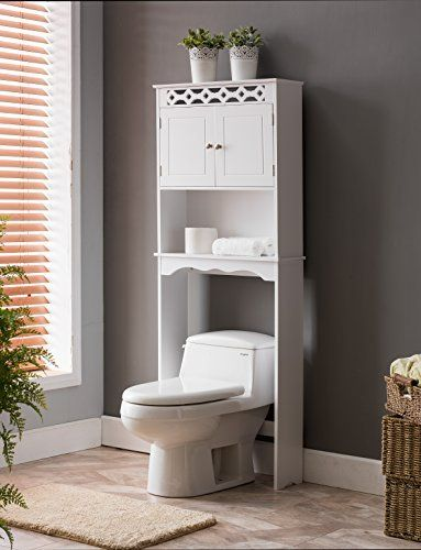 Kings Brand Furniture White Finish Wood Over The Toilet Bathroom Space Saver  Storage Cabinet. Add Extra Storage Space In Your Small Bathroom With This  Tall ...