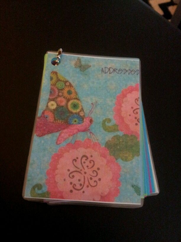my homemade mini address book for new friends they meet at the