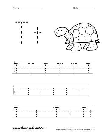 Letter T Handwriting Worksheet | Letter t worksheets ...