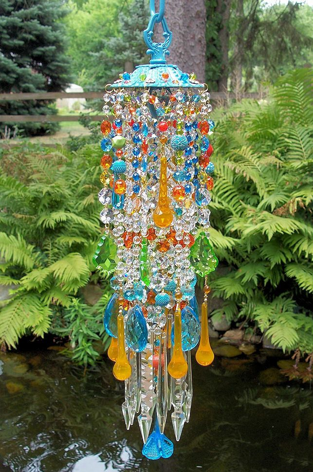 jeweled bohemian spice crystal wind chime wind chimes and sun catchers pinterest carillon. Black Bedroom Furniture Sets. Home Design Ideas