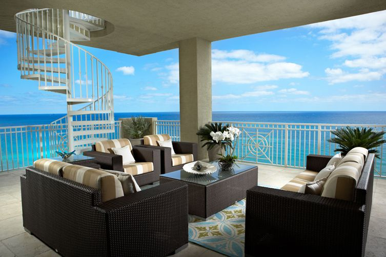 High End Interior Design Firm Decorators Unlimited Palm Beach Caribbean Patio Covered