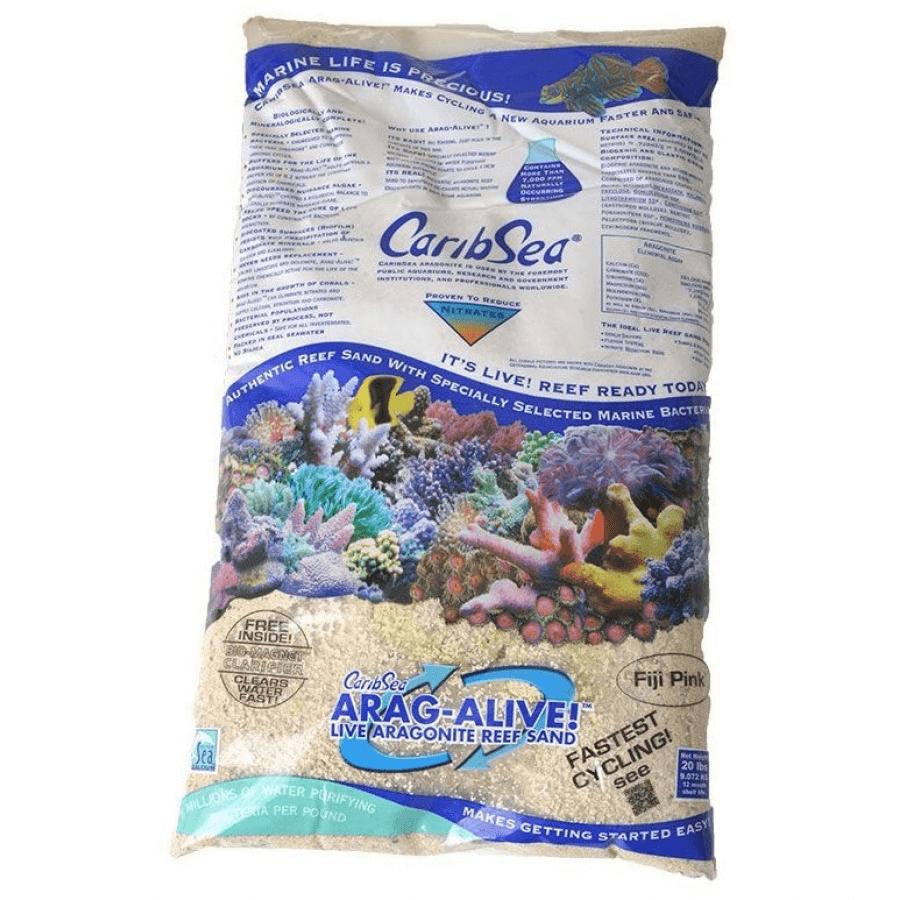 CaribSea AragAlive Live Aragonite Reef Sand Fiji Pink