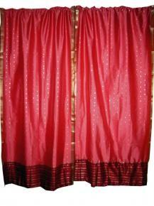 Saree Curtains Sari Curtain Panels Indian Sari Drapes Uk