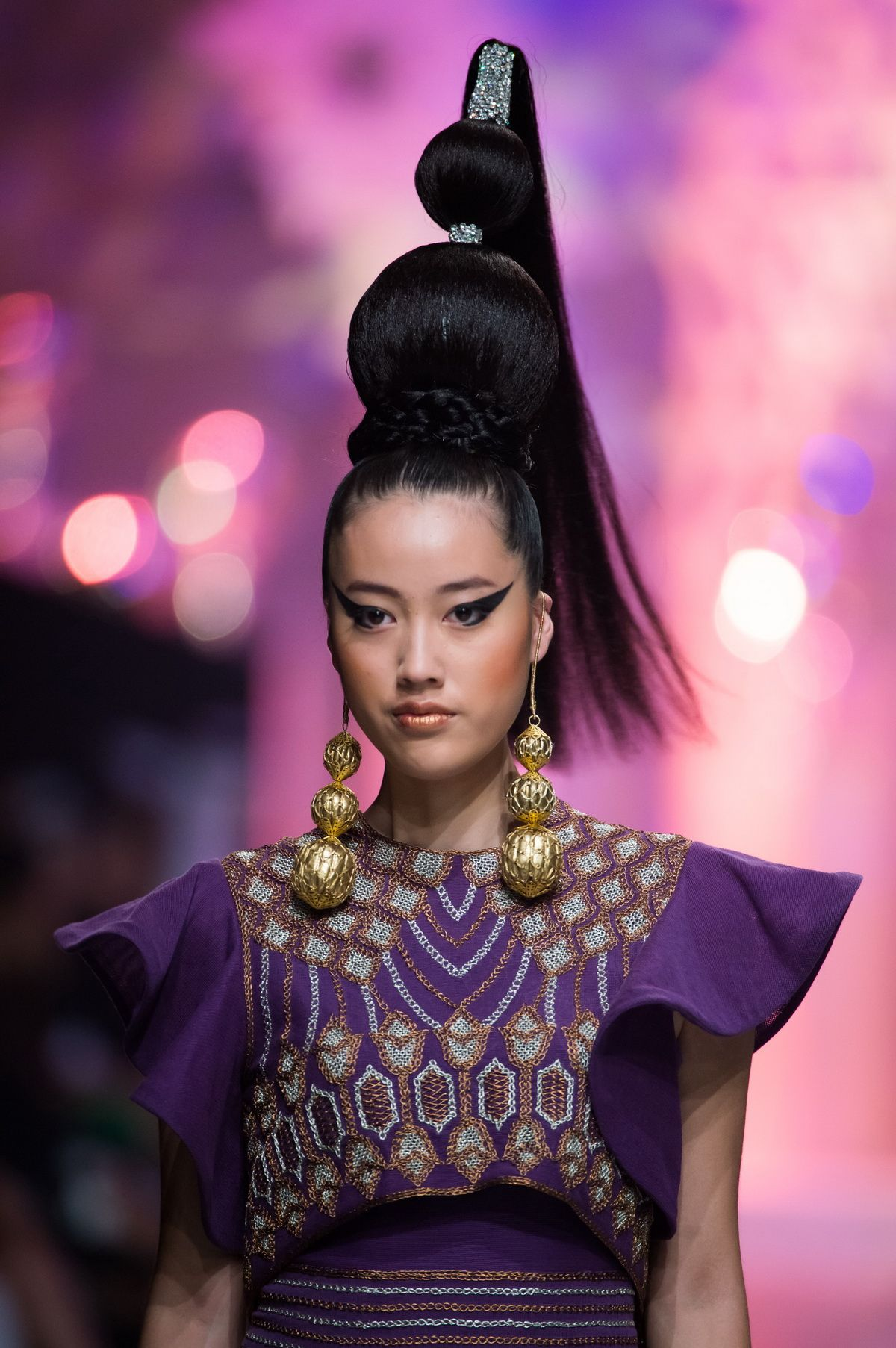 Slicked Up Hair With Braids & Buns In Zareena Spring-Summer 2015