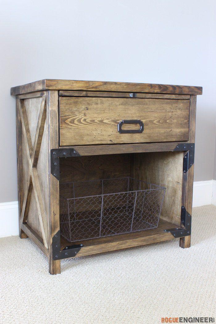 Simpson Diy Nightstand Plans Rogue Engineer Woodworking Furniture Plans Diy Nightstand Nightstand Plans