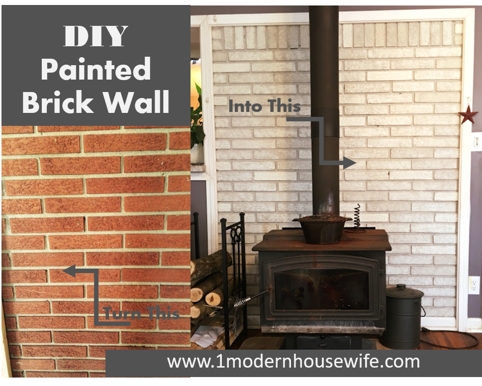 Diy Brick Fireplace Update From Black Mortar And Dated Brick To Modern Shabby Chic White Fireplace Update Painted Brick Fireplaces White Wash Brick Fireplace
