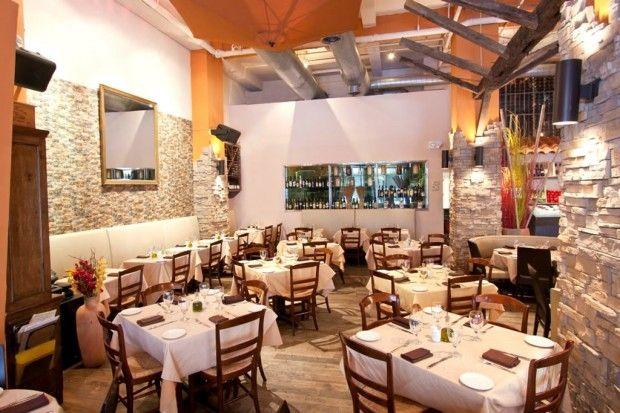 Greek Seafood Hospitality Interior Design Of Ammos Restaurant New York
