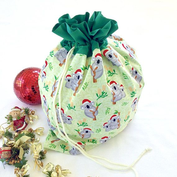 Christmas Gift Bags Australia.Large Australia Santa Sack Handmade Koala Christmas Sack