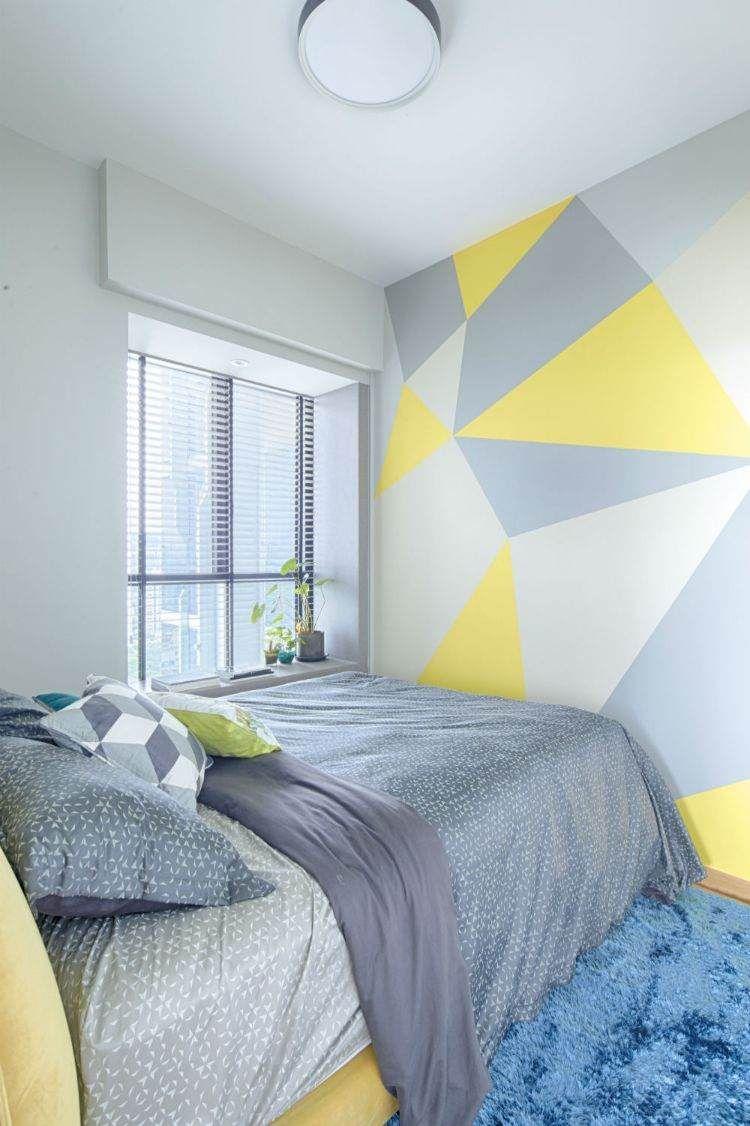 Peinture Murale Géométrique Pour Une Déco Pleine De Couleur Design