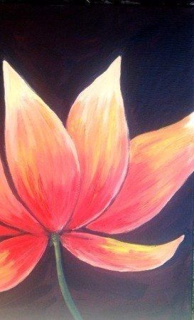 Super beautiful painting ideas for beginners best diy for Simple flower paintings for beginners