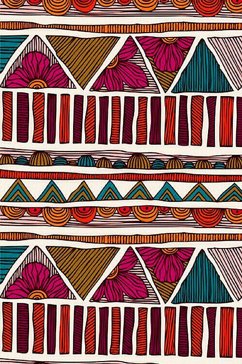 Tribal Patterns Traditional Colours