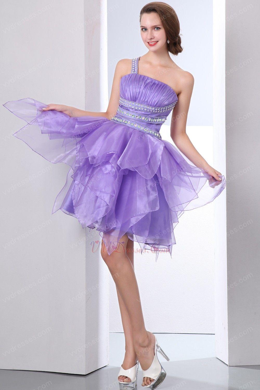 sweet 16 dresses  | ... Sweet 16 Dresses :: One Shoulder Lavender Affordable Organza Sweet 16