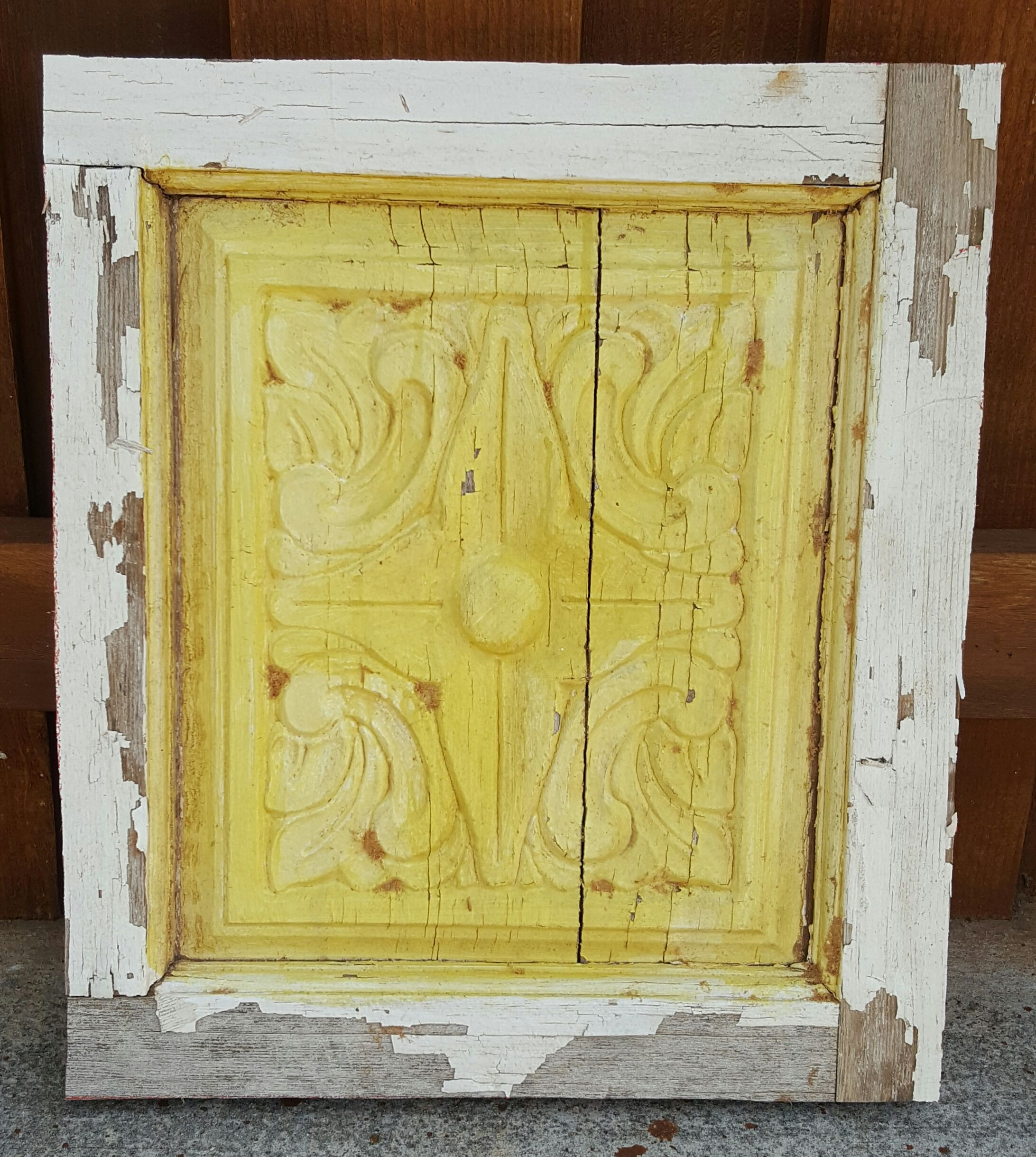 Weathered Door Panel (Yellow)   WALL DECOR FOR SALE - five17designs ...