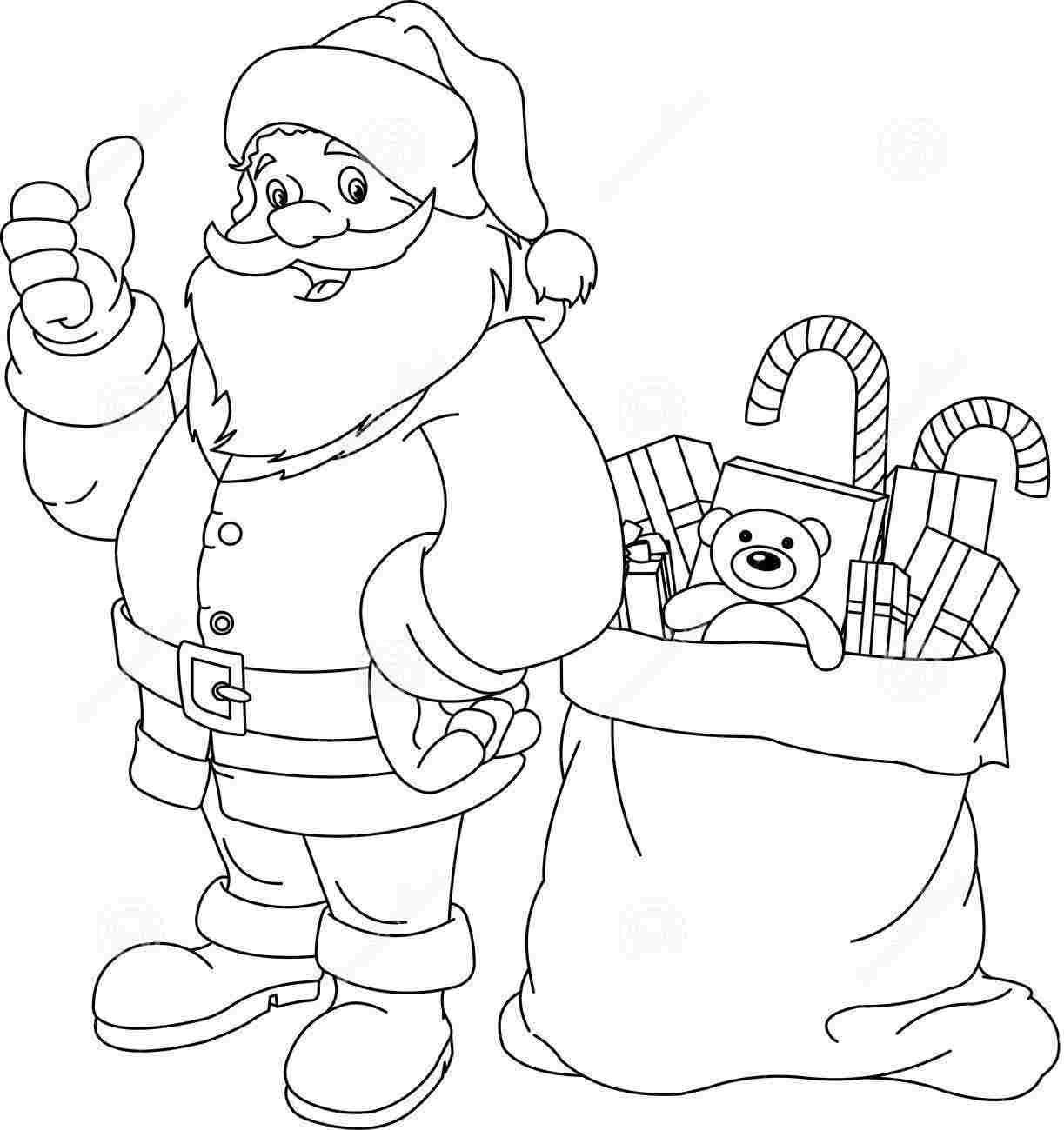 santa claus coloring pages 01 - Santa Claus Coloring Page