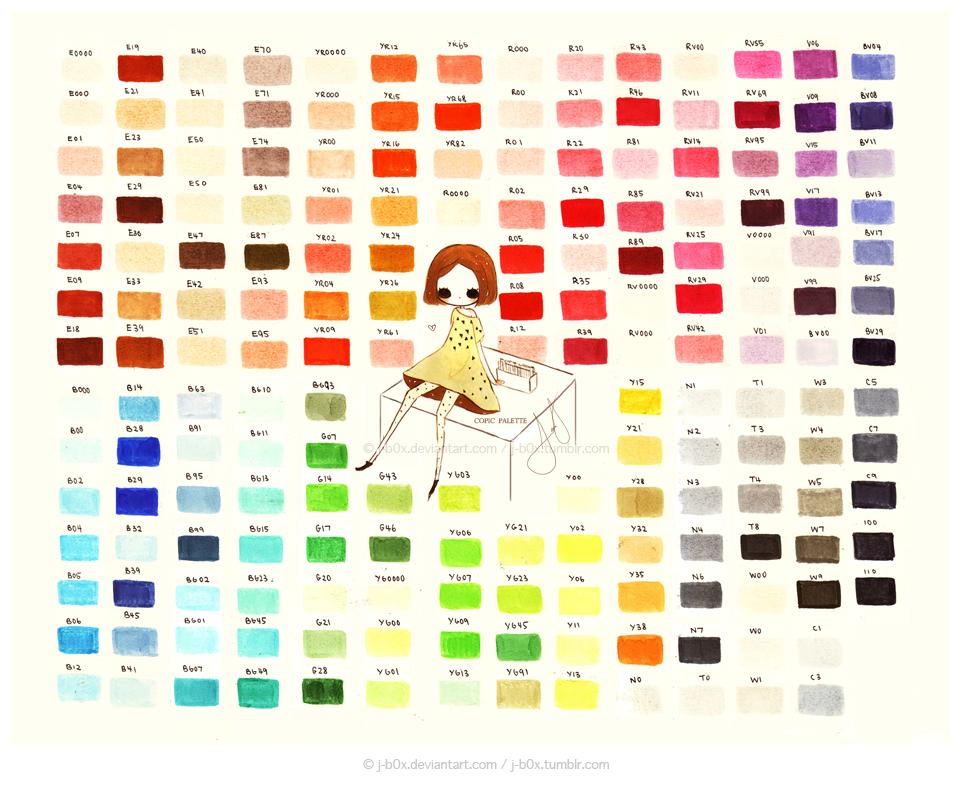 Copic Palette 2013 by j-b0x.deviantart.com on @deviantART