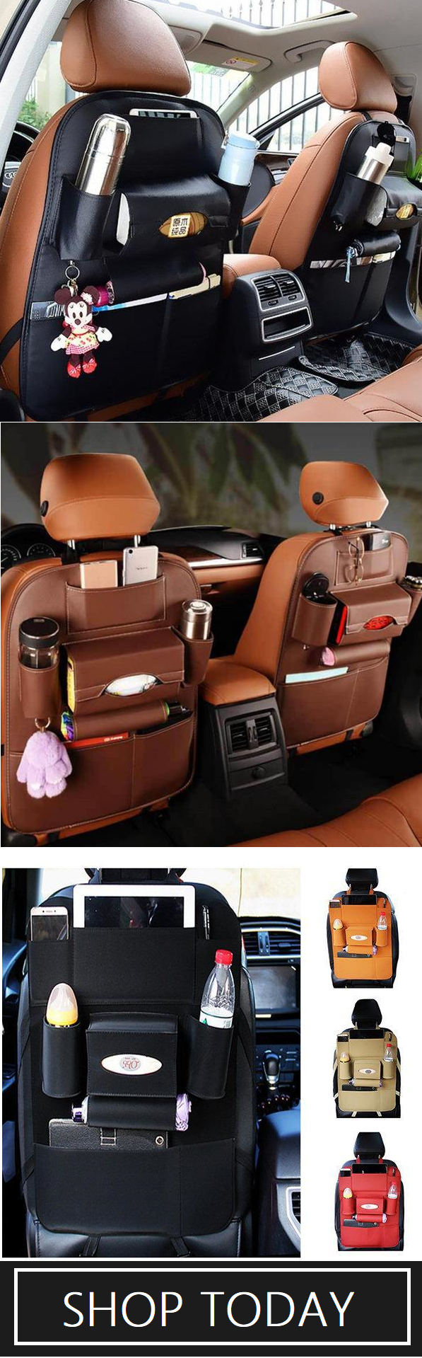 23 99 Usd Shop Now 5 Styles Leather Car Storage Bag Multi Compartment Car Seat Storage Container Outdoors Hanging Bag Auto Carros Compras