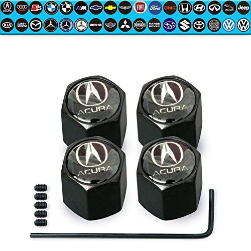 Custom Tire Valve Stem Caps 4Pack Set AntiTheft Hexagon Design  Car Truck SUV and V