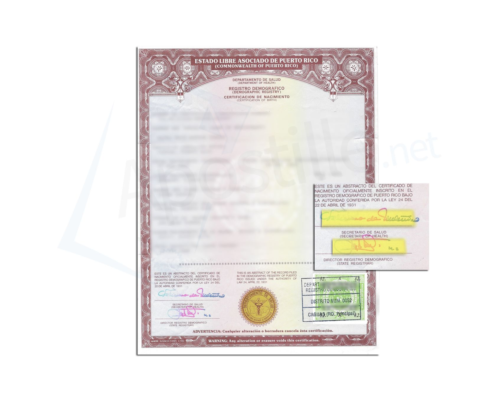 State of nevada birth certificate issued by a state registrar state of puerto rico birth certificate non acceptable for apostille xflitez Image collections