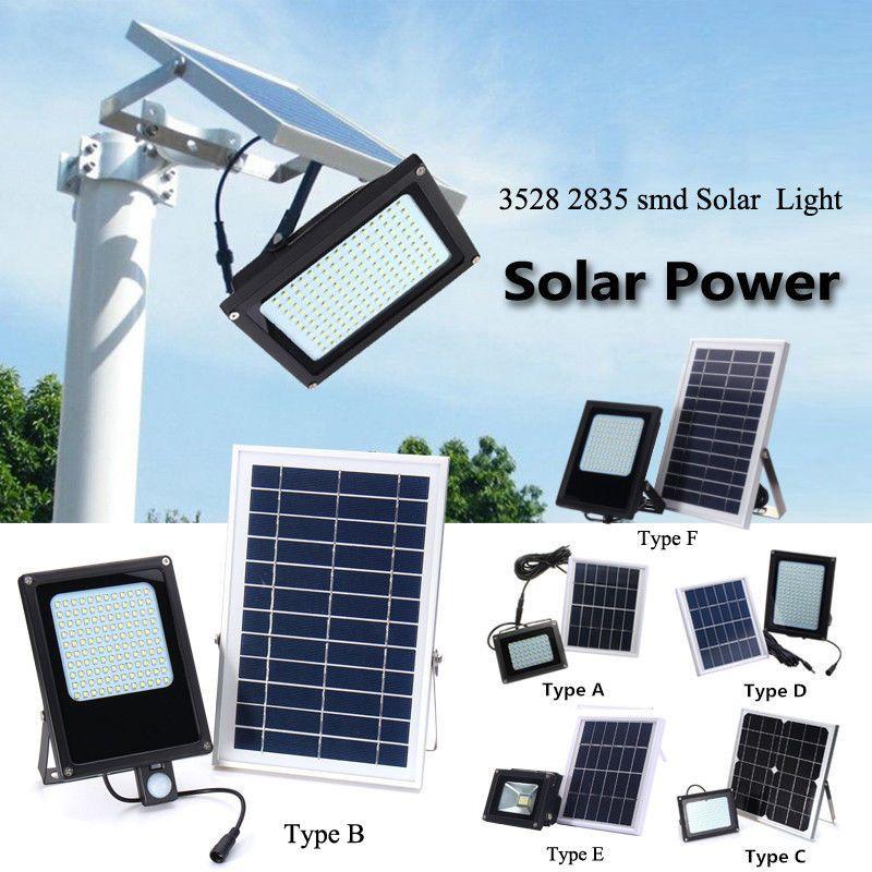 54//120//150 Solar Power LED Light Sensor Flood Spot Garden Outdoor Security Lamp