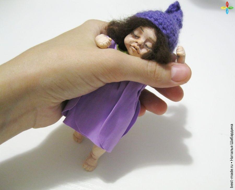 Куколка Фиалка, Полимерная пластика, Фоамиран (ревелюр, фом эва) | Bestmade - изделия ручной работы