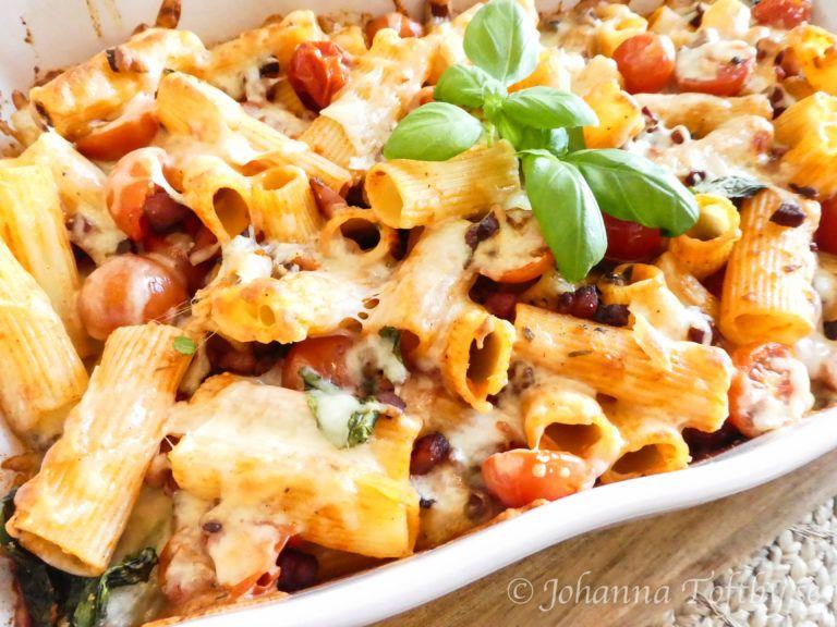 Pastagratang Med Pesto Och Mozarella Recept Matratt Matlagning