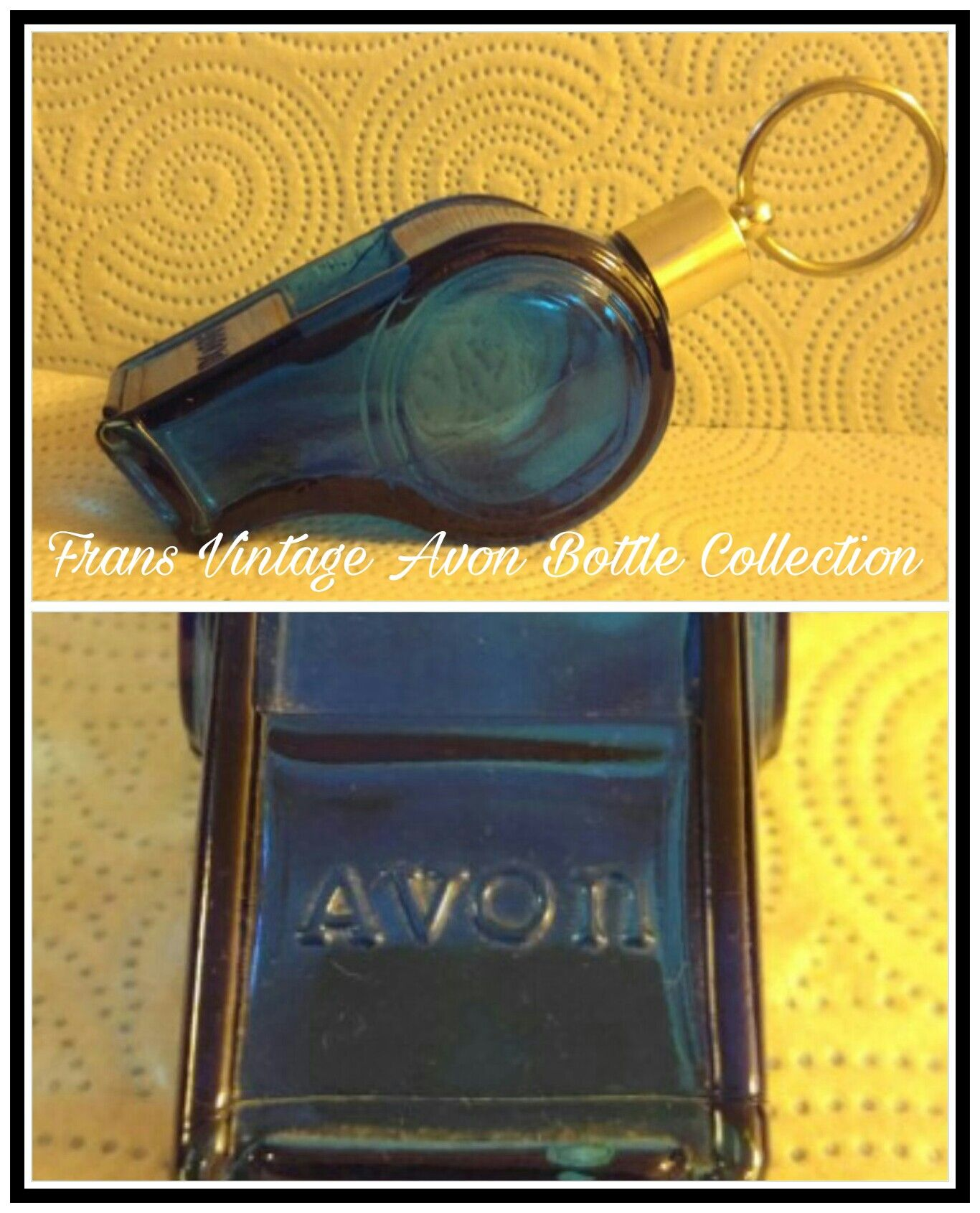 Vintage Avon Whistle Wild Country After Shave Cologne Blue