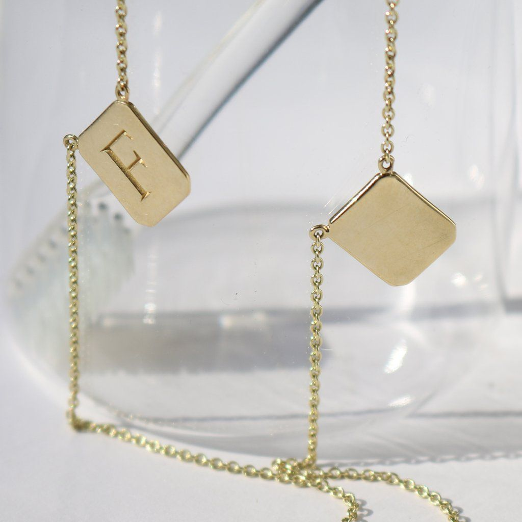 Custom Gold Tag Necklace