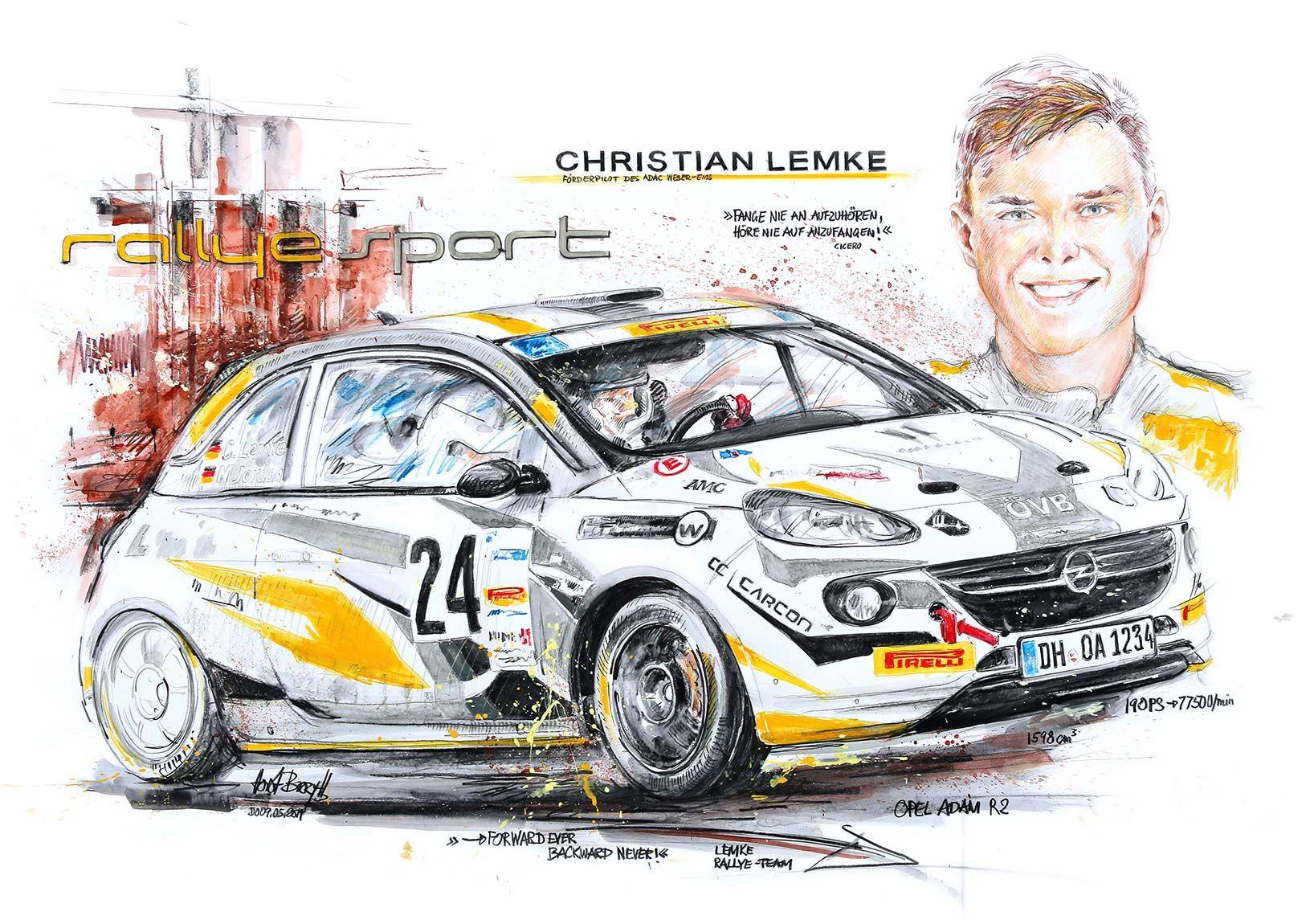 Christian Lemke, Lemke Rallye Sport 2019 (70x100cm)