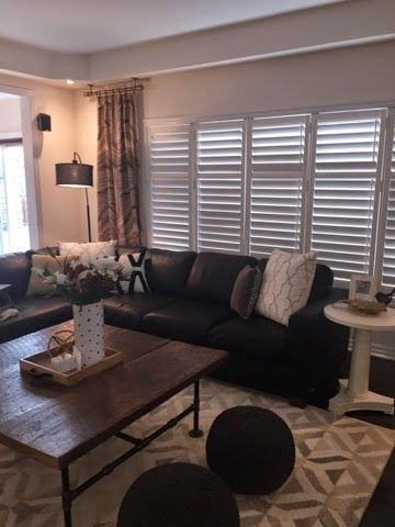 Mike and Lori's Family Room | Marquis Wool Rug + Oversized Adjustable Curtain Rods from west elm