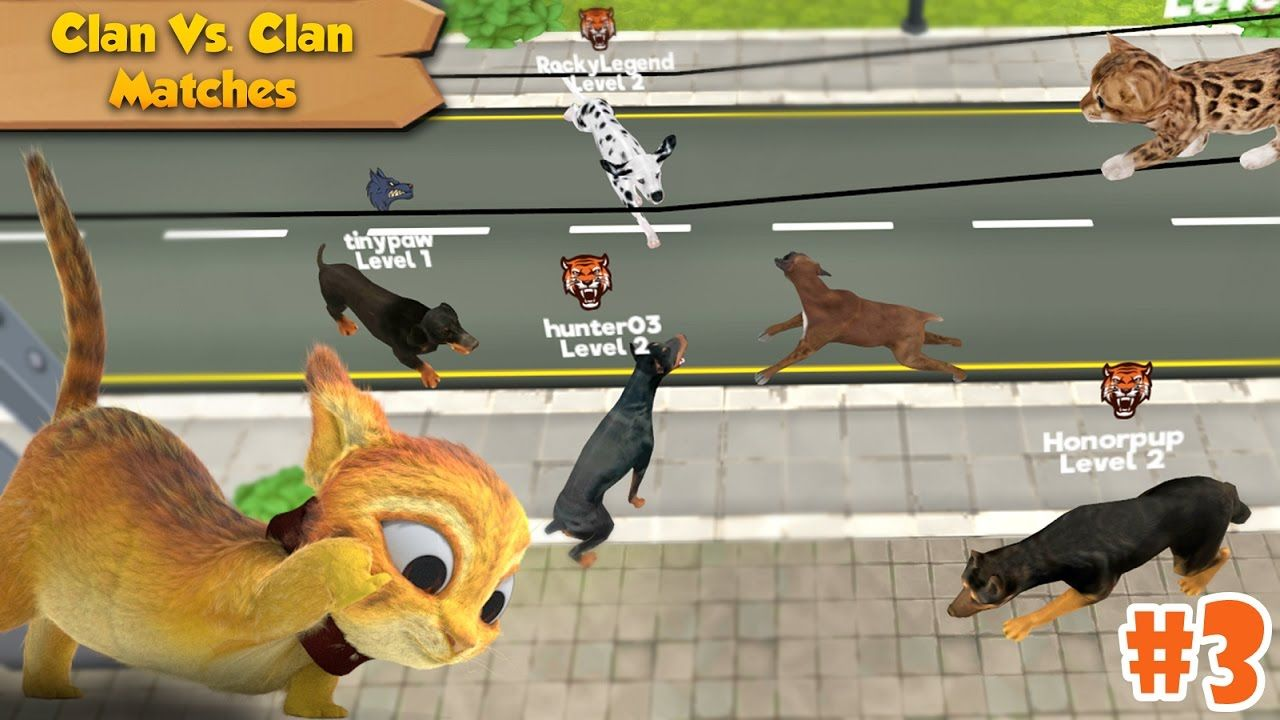 Cat & Dog Online - Simulator -Clan Vs Clan- Android/iOS - Gameplay