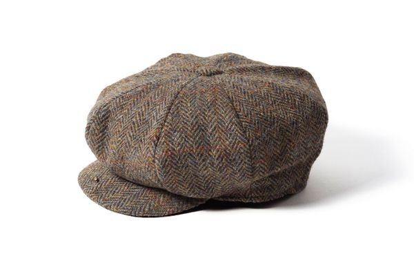 2a615f01f Failsworth Harris Tweed 8 piece Wool Carloway Cap - Brown in 2019 ...