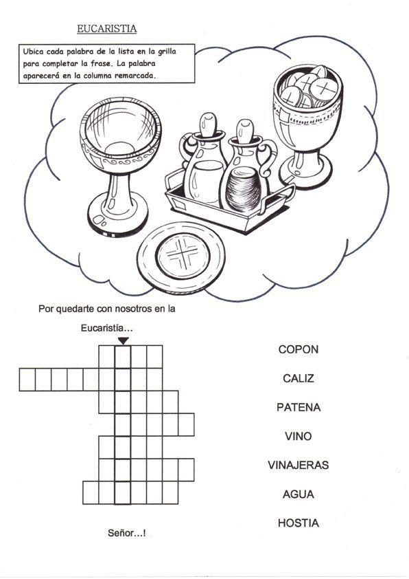 Resultado de imagen de fichas de trabajo de la eucaristia | Escuela ...