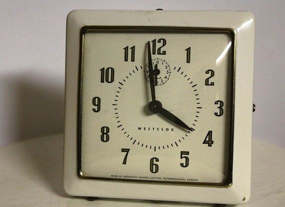 Vintage Westclox Alarm Clock Via Etsy Alarm Clock Clock Wall Clock