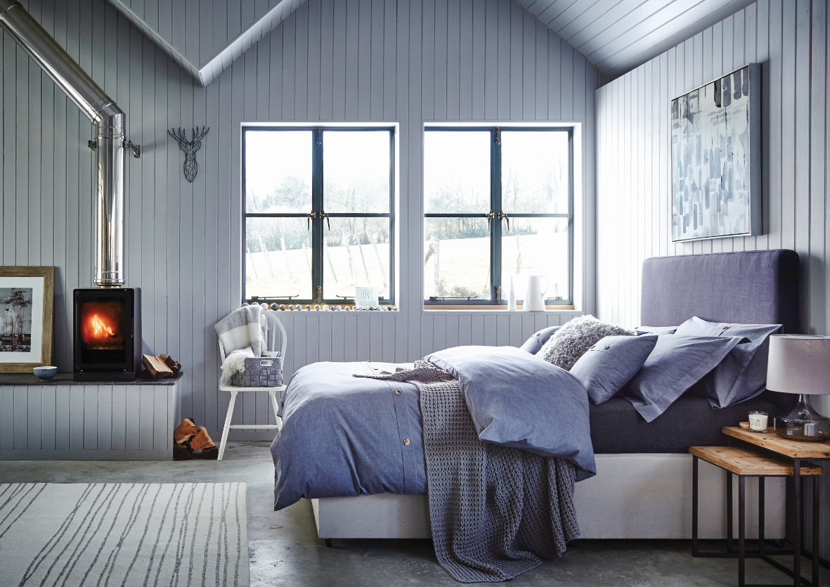 Simplicity Bedroom #bedding #simple #grey