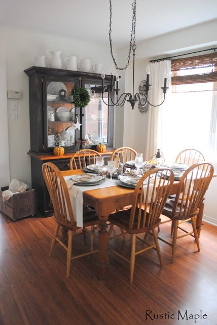 Rustic Maple Dining Room Tour Farmhouse Decorating In Suburbs White Wood Black