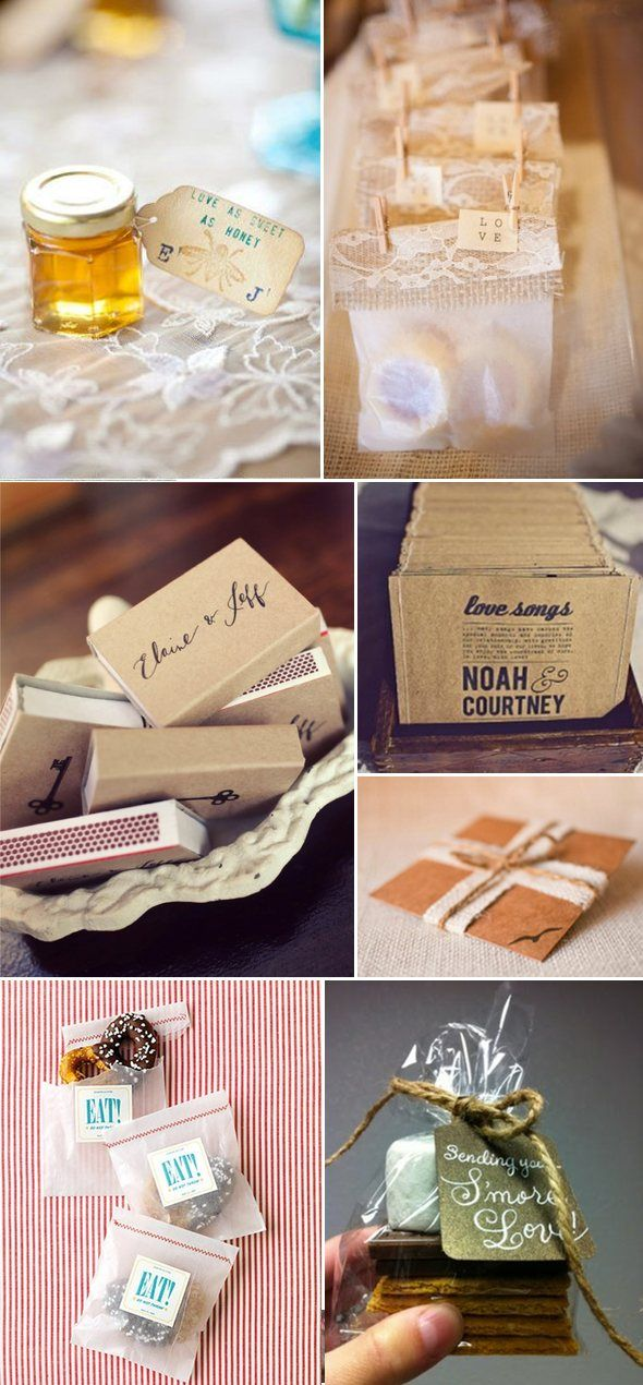 Crafty Wedding Favors on http://www.engagedandinspired.com