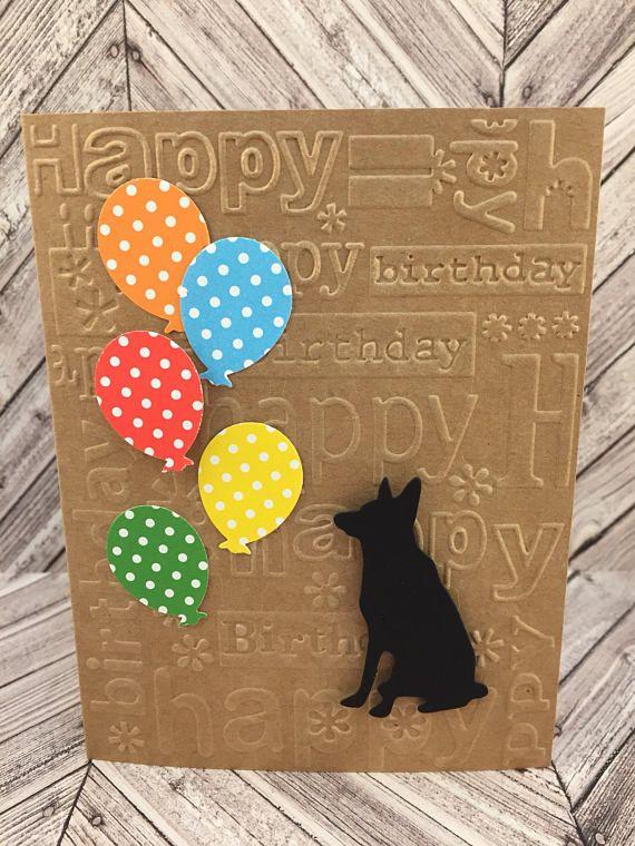 german shepherd card german shepherd birthday card gsd card happy birthday card