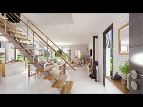 Lumena - Maison lumineuse à toit plat du constructeur Maison Familiale - YouTube | Huis