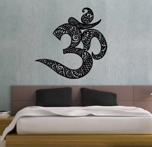 Om Symbol Buddhism Divine Buddhist Sign Indian Design Wall