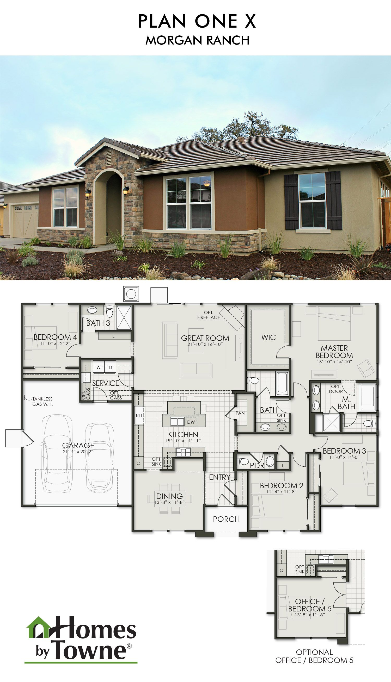 Plan One X Morgan Ranch Roseville, CA Homes by Towne | California ...
