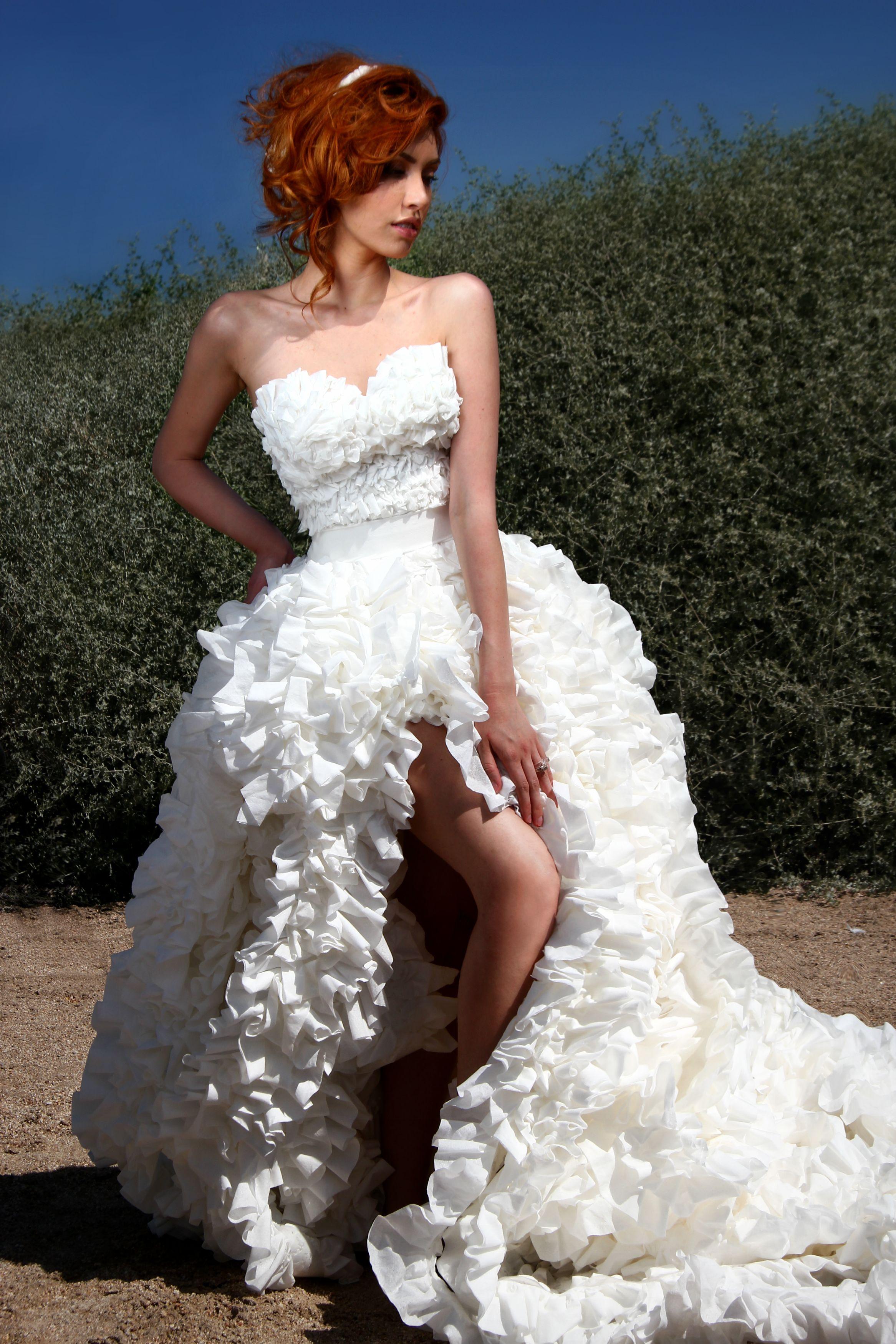 Toilet Paper Dress Wedding Dress Paper Dress Flockflockflock By